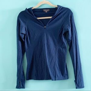 Ibex hooded wool shirt XS